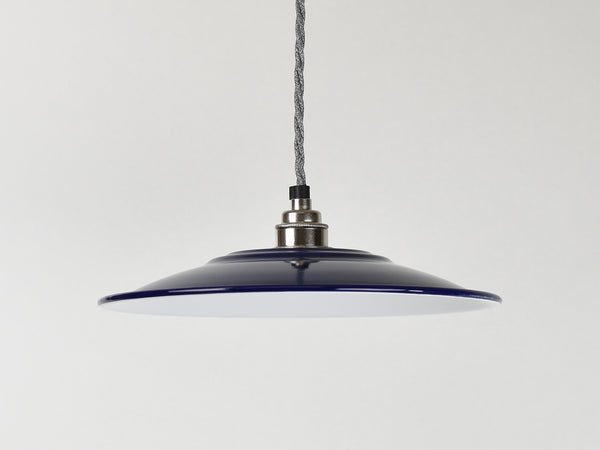 Large Flat Enamel Lamp Shade - 5 Colours
