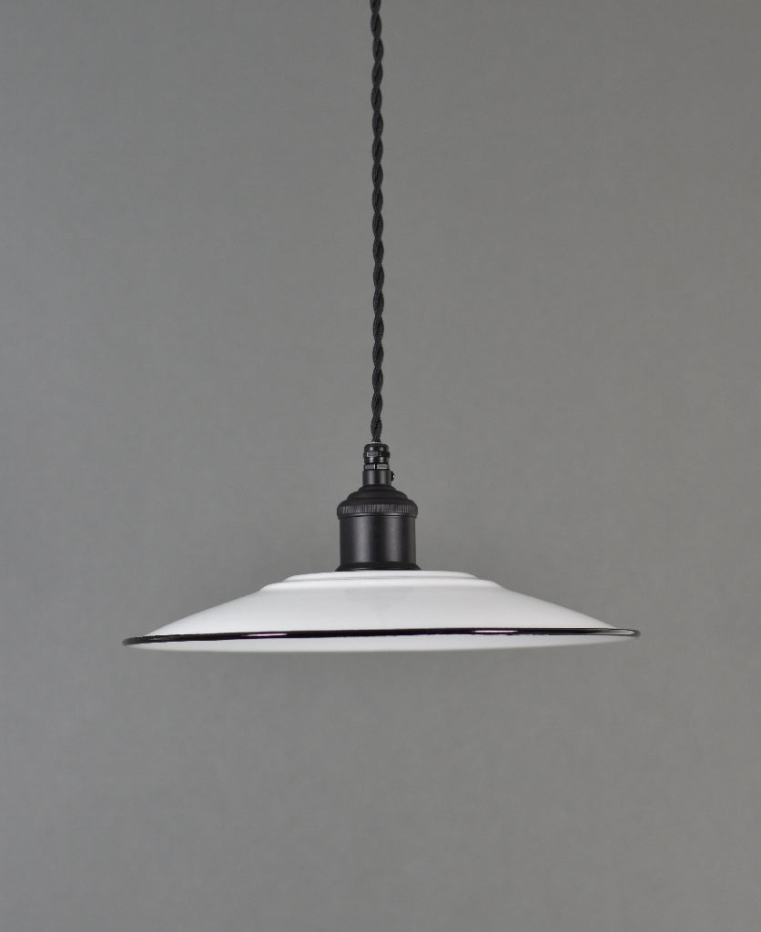 Enamel Shade | Flat | Brilliant White - Vendimia Lighting Co.
