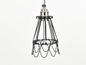Cage Shade | Flower | Jet Black - Vendimia Lighting Co.