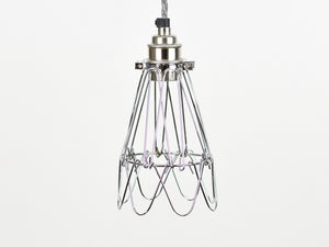 Cage Shade | Flower | Polished Silver - Vendimia Lighting Co.