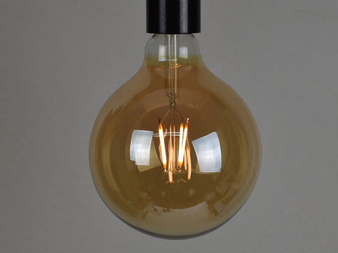 B22 LED Filament Bulb | G125 | Amber - Vendimia Lighting Co.