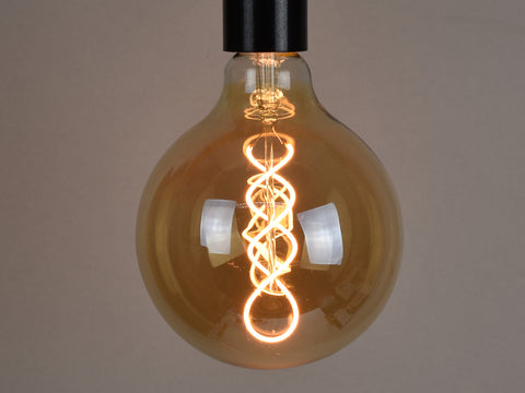 E27 LED Filament Bulb | G125 | Spiral - Vendimia Lighting Co.