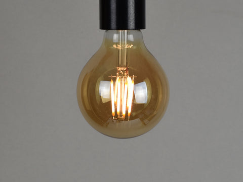 B22 LED Filament Bulb | G80 | Amber - Vendimia Lighting Co.
