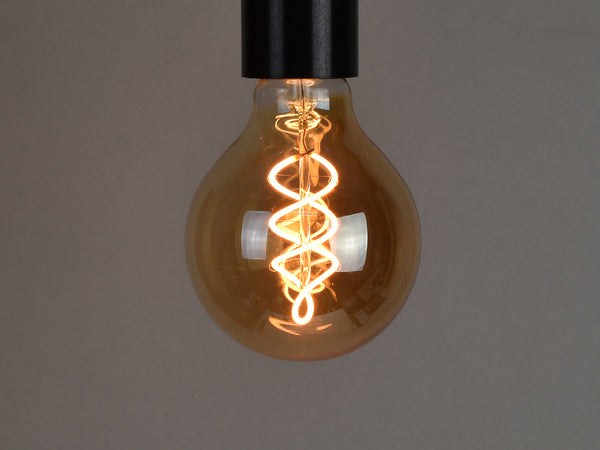B22 LED Filament Bulb | G80 | Spiral - Vendimia Lighting Co.