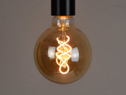 E27 LED Filament Bulb | G95 | Spiral - Vendimia Lighting Co.