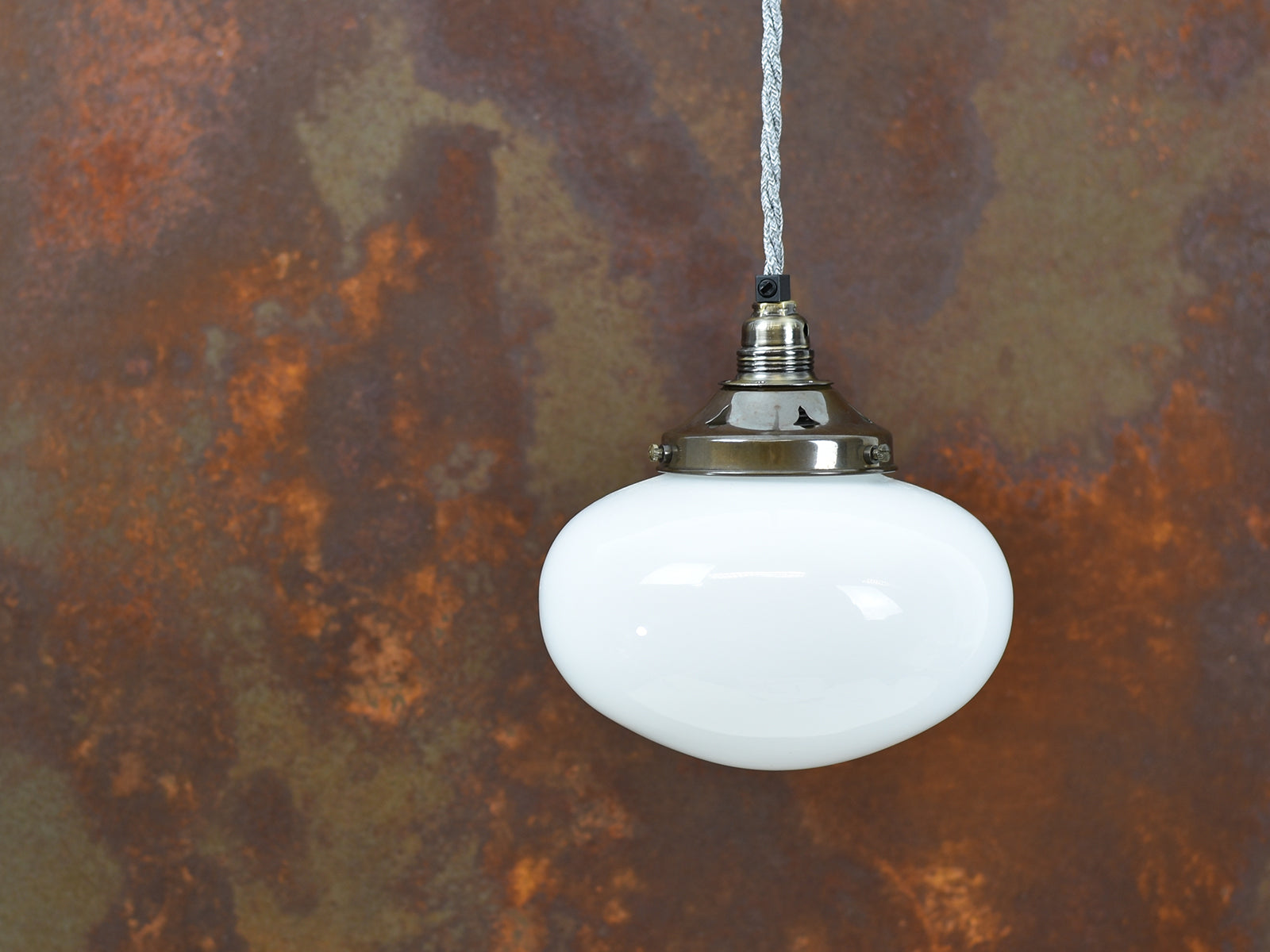 Ceiling Light | Frosted Glass Opal | Old English Brass Finish - Vendimia Lighting Co.