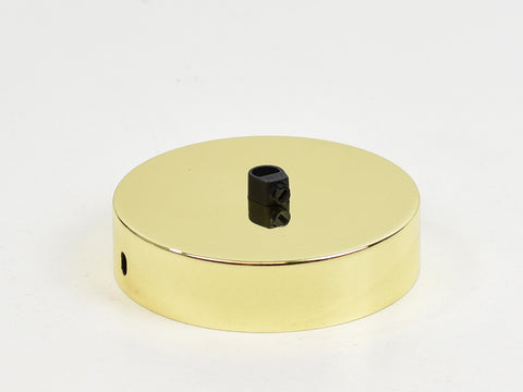 Steel Ceiling Rose | Single Outlet | Gold Chrome - Vendimia Lighting Co.