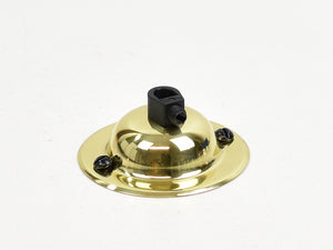 Steel Ceiling Rose | Dome | Gold Chrome - Vendimia Lighting Co.