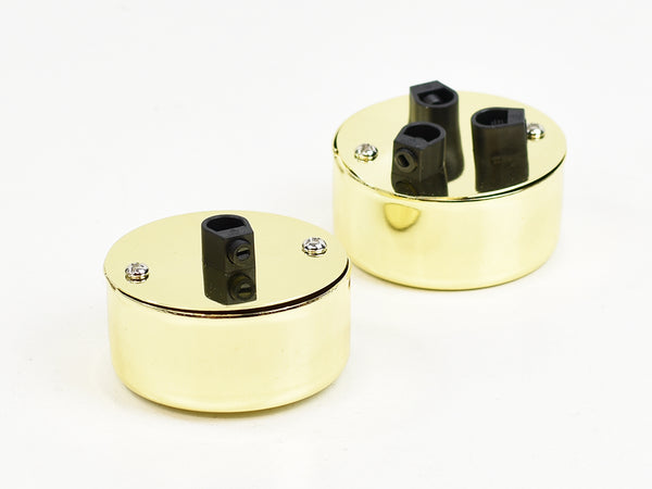 Steel Conduit Box Ceiling Rose | Multi Outlet | Gold chrome - Vendimia Lighting Co.