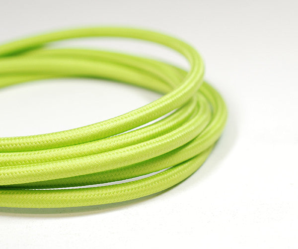 Fabric Cable | Round | Lime Green - Vendimia Lighting Co.