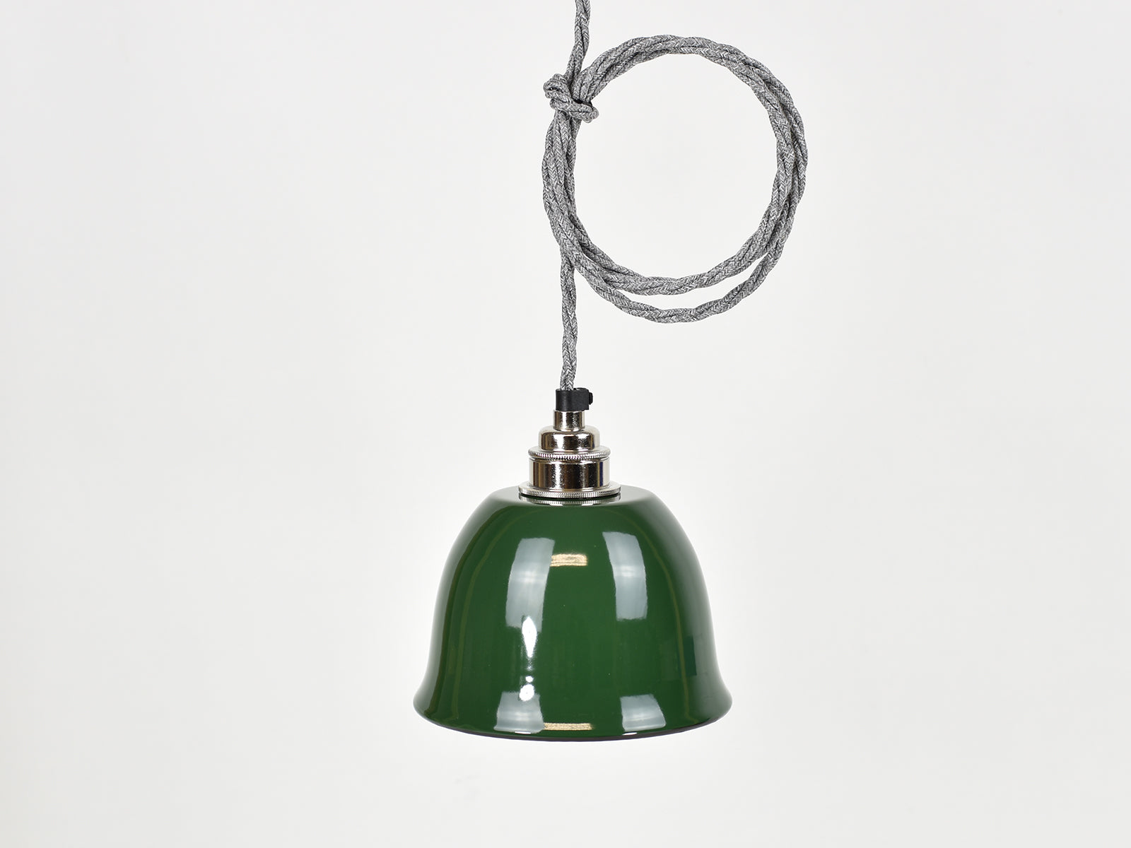 Ceiling Light | Bell Enamel Shade | Classic Green - Vendimia Lighting Co.
