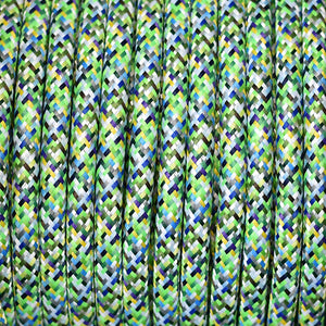 Fabric Cable | Round | Pixel Green - Vendimia Lighting Co.