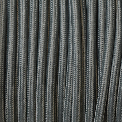 Fabric Cable | Round | Steel Grey - Vendimia Lighting Co.