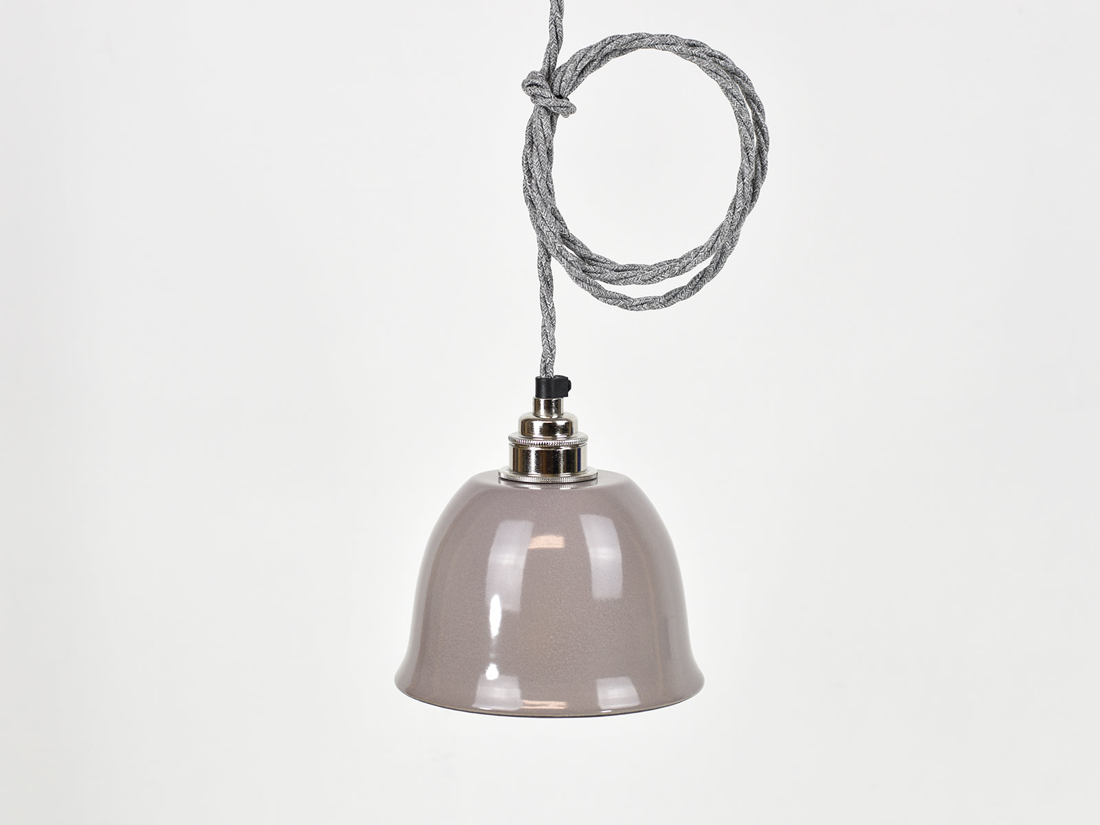 Ceiling Light | Bell Enamel Shade | Gilded Beige - Vendimia Lighting Co.