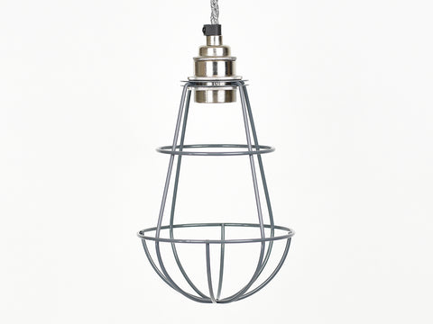 Cage Shade | Teardrop | Battleship Grey - Vendimia Lighting Co.