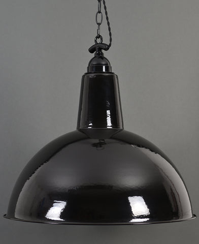 Ceiling Pendant | XXL Domed | Jet Black - Vendimia Lighting Co.