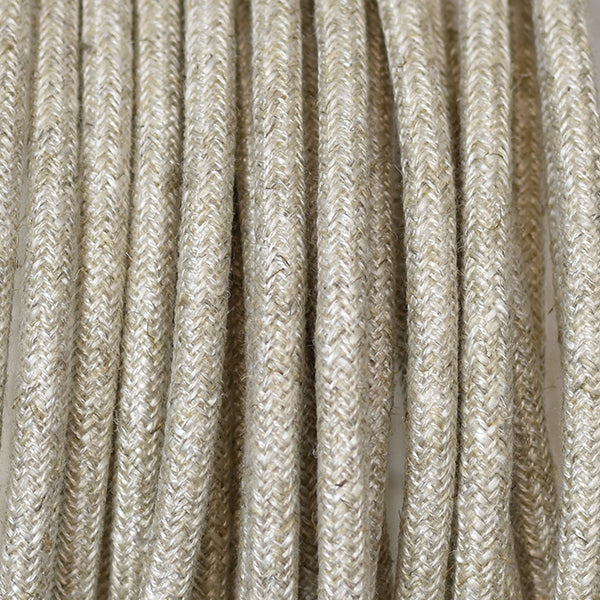 Fabric Cable | Round | Hessian - Vendimia Lighting Co.