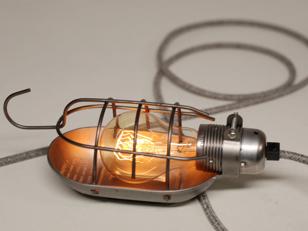Desk Lamp | Premium Inspection Lamp Cage | Raw Steel - Vendimia Lighting Co.