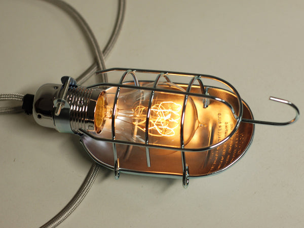 Desk Lamp | Inspection Lamp Cage | Polished Silver - Vendimia Lighting Co.
