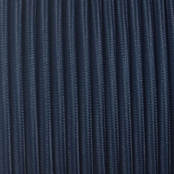 Fabric Cable | Round | Maritime Blue - Vendimia Lighting Co.