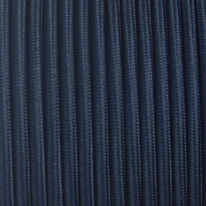 Fabric Cable | Round | Dark Blue - Vendimia Lighting Co.