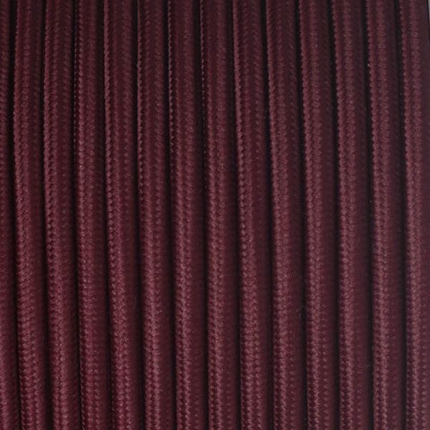 Fabric Cable | Round | Zinfandel Red - Vendimia Lighting Co.
