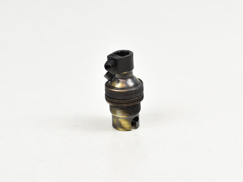 B15 Brass Bulb Holder | Threaded Skirt | Brushed Antique - Vendimia Lighting Co.
