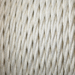 Fabric Cable | Twisted | Ivory White - Vendimia Lighting Co.