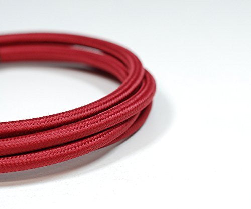 Round Fabric Cable | Rhubarb Red - Vendimia Lighting Co.