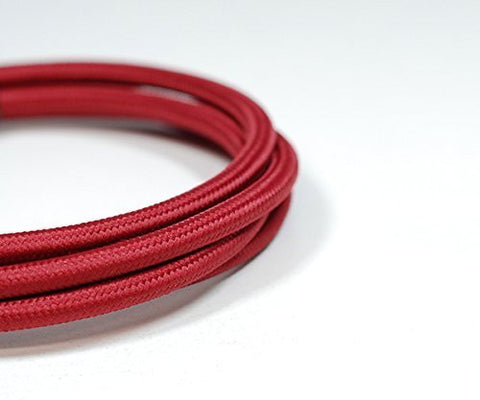 Fabric Cable | Round | Rhubarb Red - Vendimia Lighting Co.