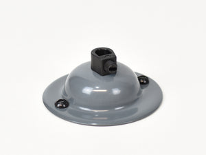 Steel Ceiling Rose | Dome | Battleship Grey - Vendimia Lighting Co.
