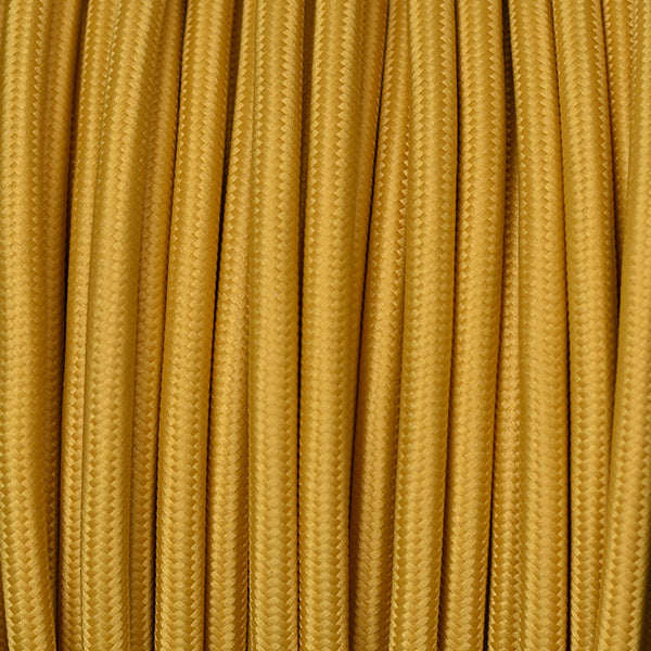 Fabric Cable | Round | Mustard Yellow - Vendimia Lighting Co.