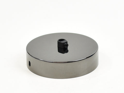 Steel Ceiling Rose | Single Outlet | Polished Black - Vendimia Lighting Co.