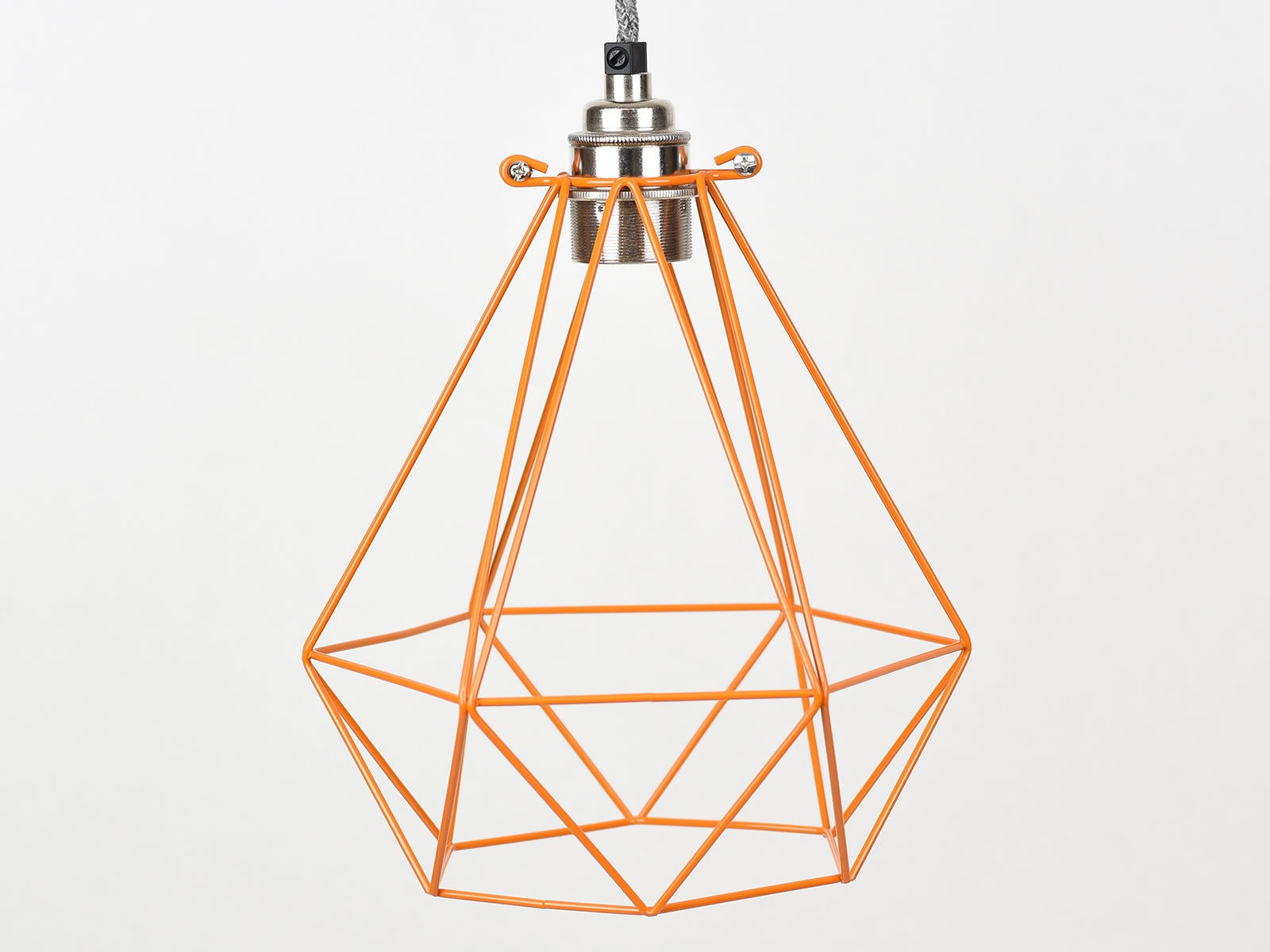 Cage Shade | Diamond | Burnt Orange - Vendimia Lighting Co.