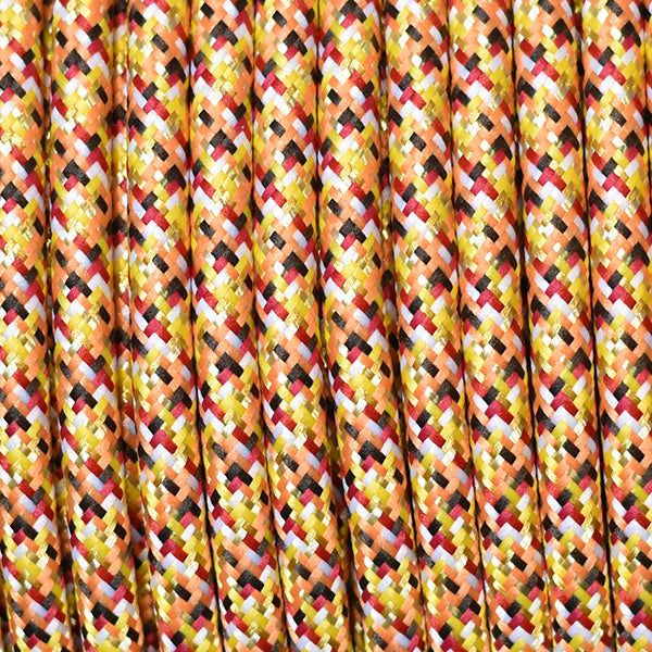 Fabric Cable | Round | Pixel Orange - Vendimia Lighting Co.