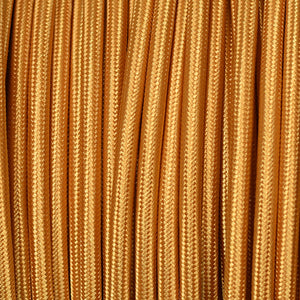 Fabric Cable | Round | Pure Gold - Vendimia Lighting Co.