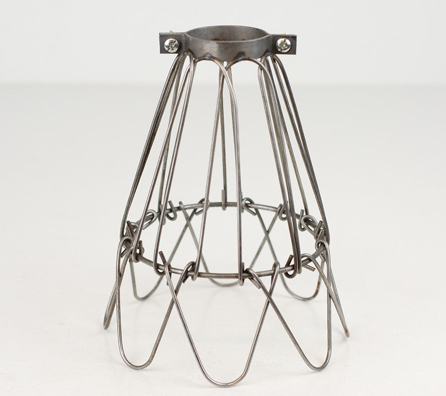 Cage Shade | Flower | Raw Steel - Vendimia Lighting Co.