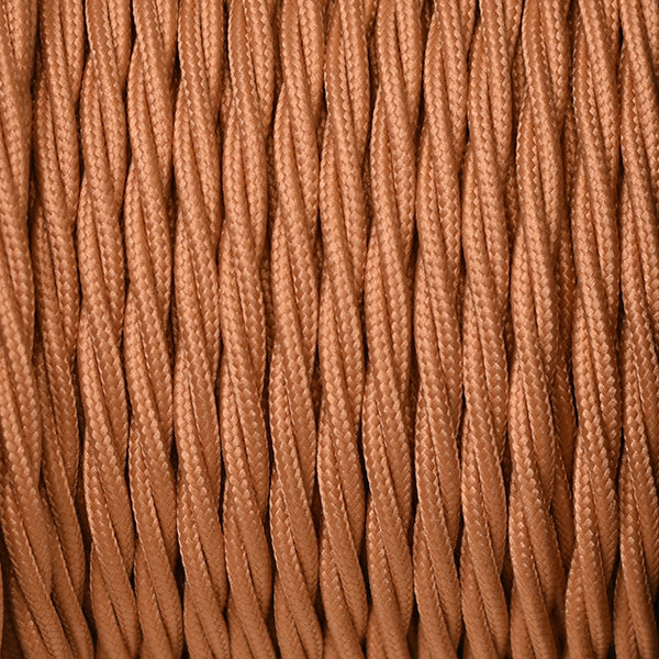 Fabric Cable | Twisted | Rust Brown - Vendimia Lighting Co.