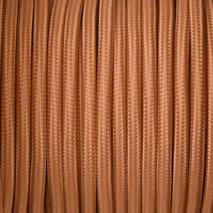 Fabric Cable | Round | Rust Brown - Vendimia Lighting Co.