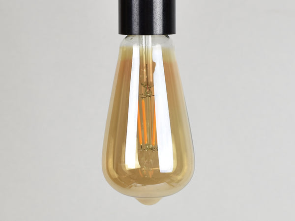 E27 LED Filament Bulb | ST64 | Amber - Vendimia Lighting Co.