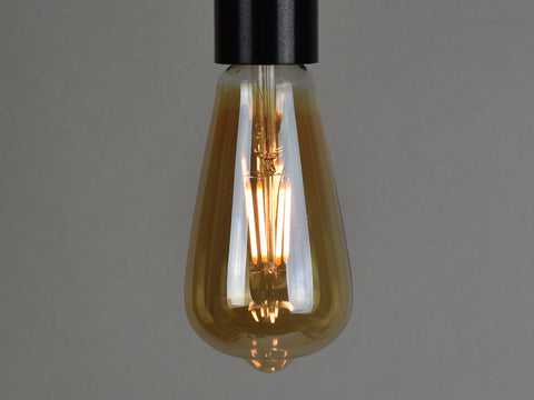 B22 LED Filament Bulb | ST64 | Amber - Vendimia Lighting Co.