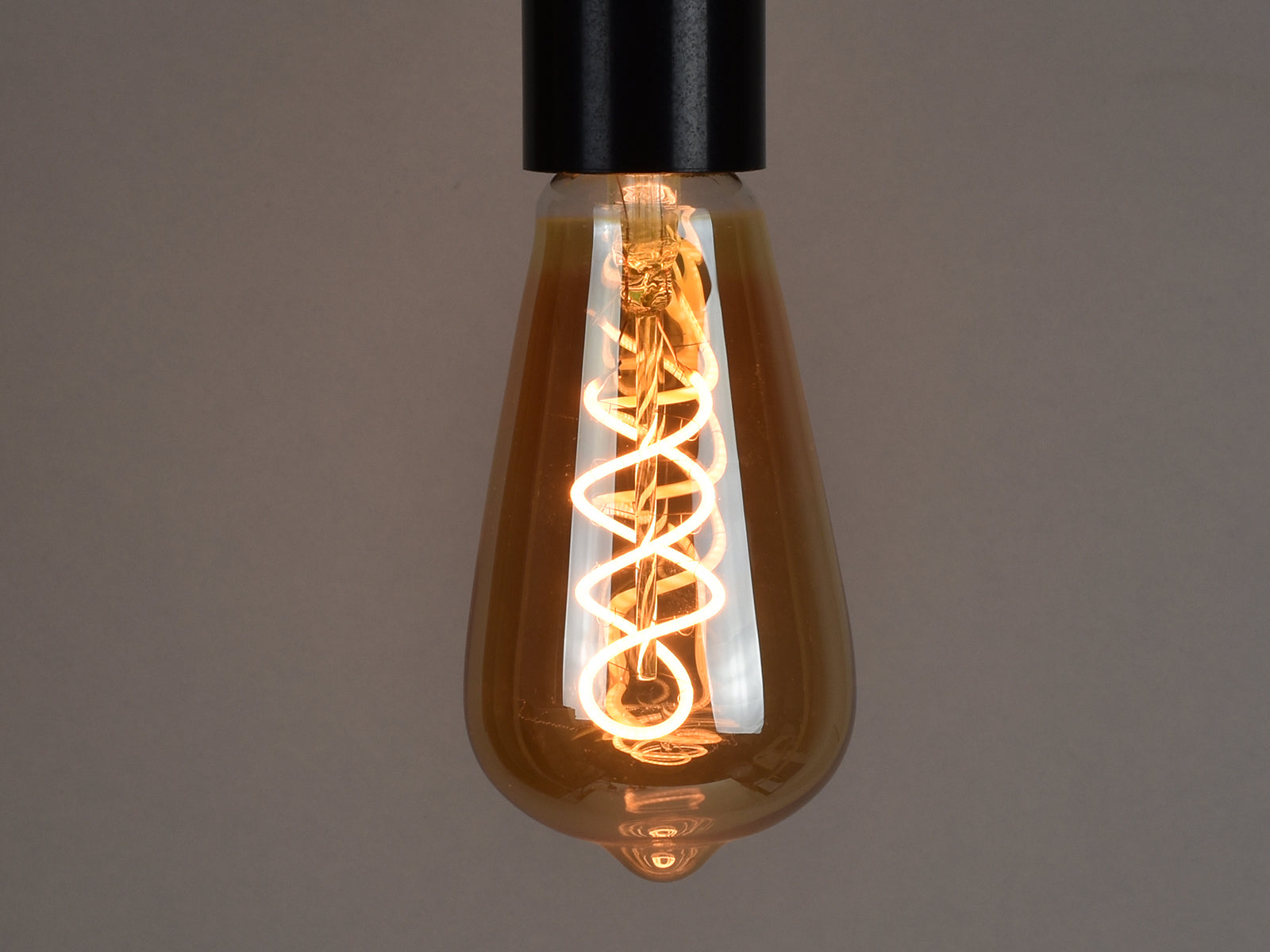 E27 LED Filament Bulb | ST64 | Spiral - Vendimia Lighting Co.
