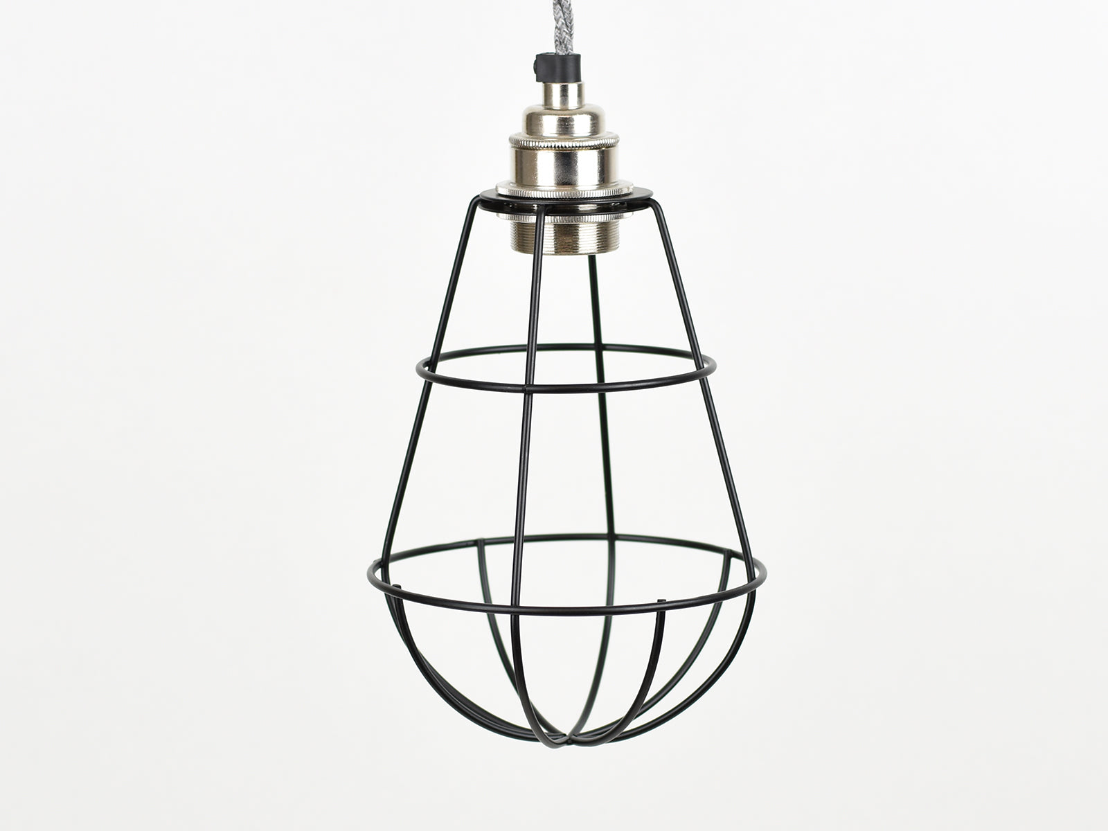 Cage Shade | Teardrop | Jet Black - Vendimia Lighting Co.