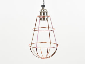 Cage Shade | Teardrop | Polished Copper - Vendimia Lighting Co.