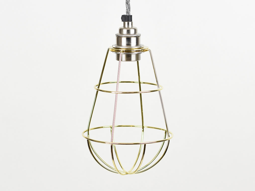 Cage Shade | Teardrop | Pure Gold - Vendimia Lighting Co.