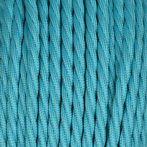 Fabric Cable | Twisted | Teal Blue - Vendimia Lighting Co.
