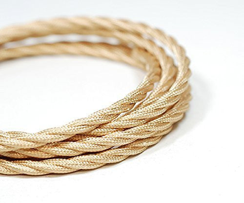 Fabric Cable | Twisted | Champagne Gold - Vendimia Lighting Co.