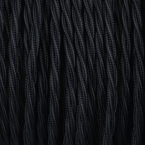Fabric Cable | Twisted | Jet Black - Vendimia Lighting Co.