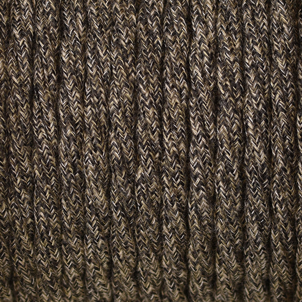 Fabric Cable | Twisted | Brown Tweed - Vendimia Lighting Co.