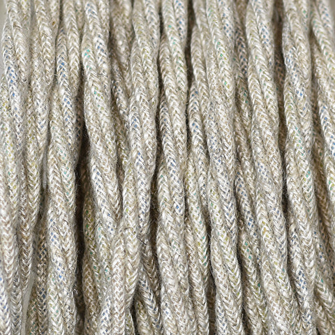 Fabric Cable | Twisted | Hessian - Vendimia Lighting Co.